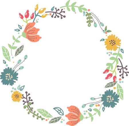 Couleur floral pour la conception d'invitation de mariage, faites gagner la date illustrations Banque d'images - 34141708