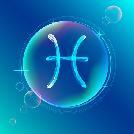pices: Horoscope: abstract color sign of the zodiac - Pices, beautiful illustration