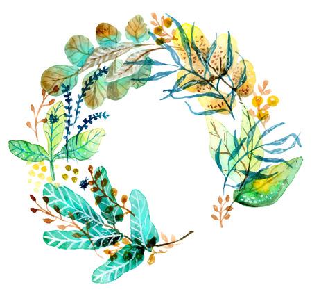 pflanzen: Aquarell Blumen für Hochzeitseinladungsentwurf oder sparen das Datum Illustration