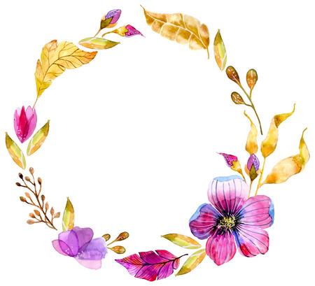 Aquarelle floral pour la conception d'invitation de mariage ou enregistrer la date illustrations Banque d'images - 36833160