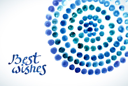 Watercolor circles background with place for text. Color hand drawn circles ornament. Round shapes. photo