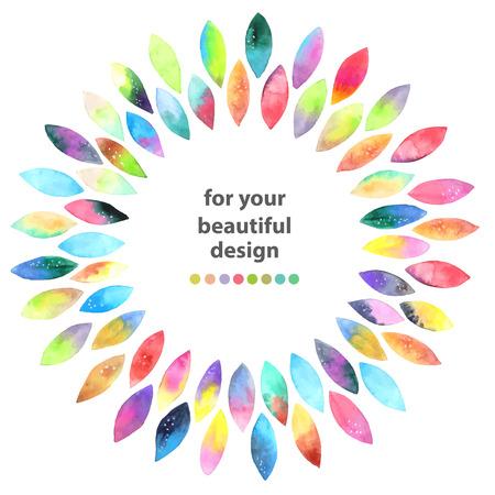 수채화 다채로운 추상적 인 배경. 페인트 얼룩 수채화의 원활한 패턴 흰색 위에 상품