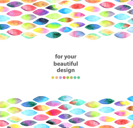 rhomb: Watercolor colorful abstract background. Paint splash watercolor drops over white