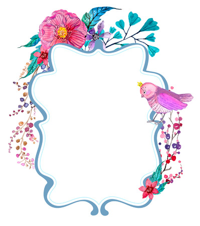 Watercolor flowers background for beautiful design