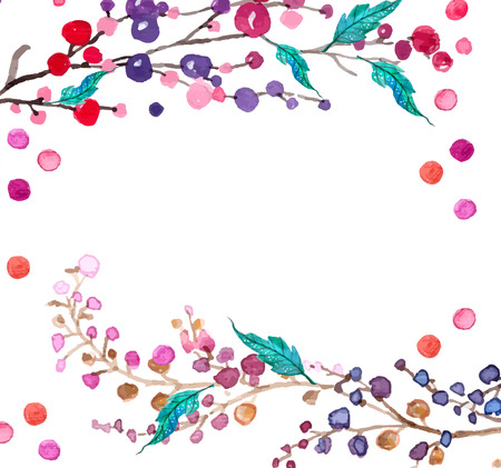 Watercolor flowers background for beautiful design Фото со стока - 38960949