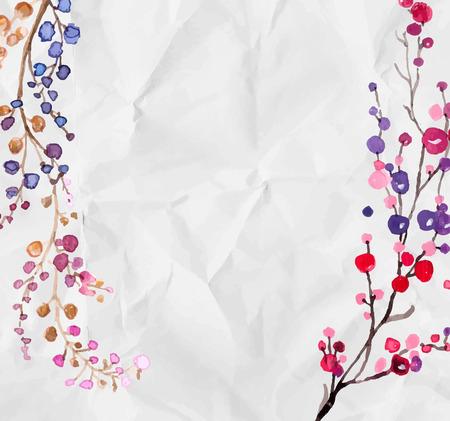 flowers background: Acuarela flores de fondo para el dise�o hermoso Vectores