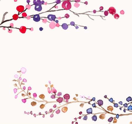 Acuarela flores de fondo para el diseño hermoso