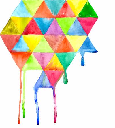 triangulo: Patrón de Triángulo de fondo, acuarela triángulo de fondo