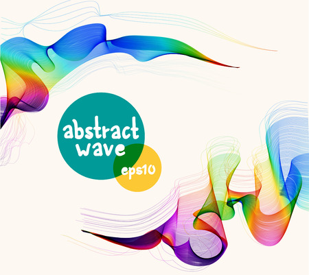 design background: Abstract colorful background with wave for beautiful modern design