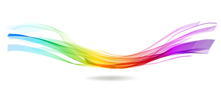 Abstract colorful background with wave over white Иллюстрация