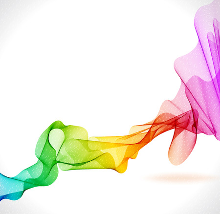 abstract rainbow: Abstract colorful background with wave, illustration