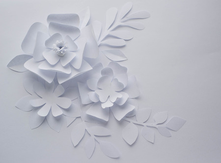 Paper flower on white background paper craft flowers paper stock paper flower on white background paper craft flowers paper cut beautiful design stock mightylinksfo