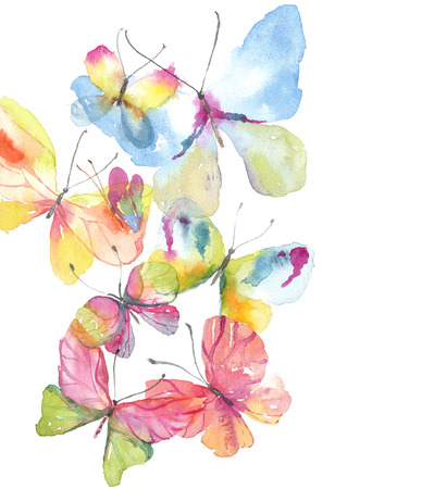 Beautiful watercolor butterfly background for beautiful design Stock Photo - 78526378