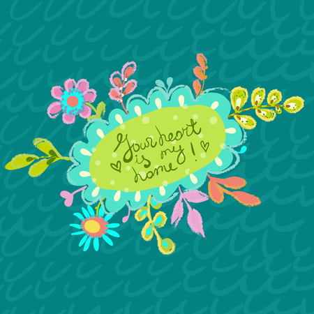 Flower illustration, bright colorful background for beautiful design
