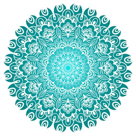 Flower color Mandala. Vintage decorative element. Oriental pattern, vector illustration
