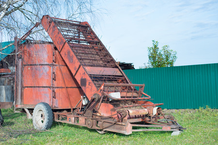 Mechanical hay loader outdoor