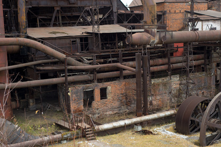 Old factory construction, Russian factory