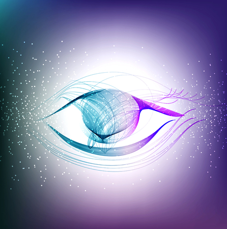 Abstract color eye, modern beautiful illustration