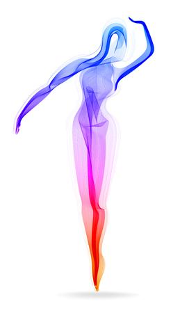 Danseuse, ballerine, silhouette élégante, illustration de mode moderne