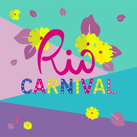 Color background for Rio Carnival, festive, bright design