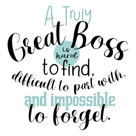 Affiche de cadeau de patron, appréciation de patron, impression de patron : un patron vraiment génial est difficile à trouver, décor de bureau, cadeaux de retraite pour patron, cadeau de départ, lettrage art, illustration Vecteurs