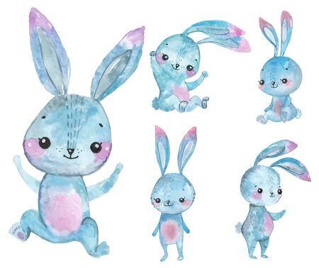 Watercolor Bunny set