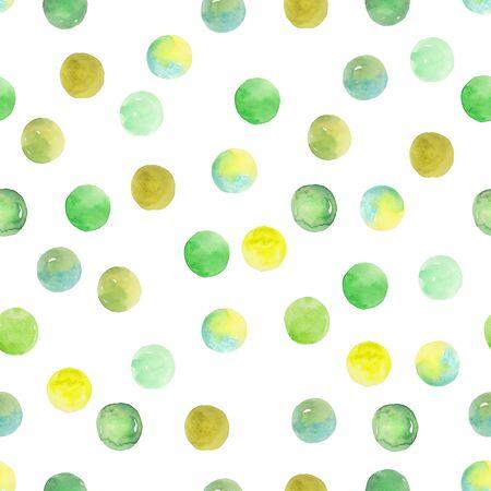 Polka Dot Pattern, Seamless  over white