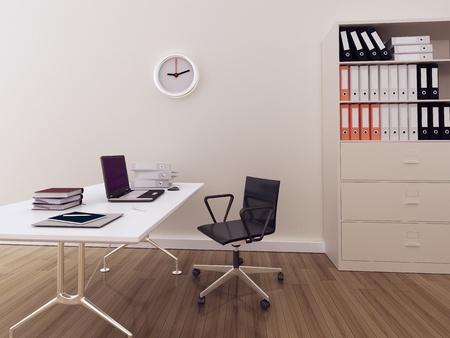 현대적인 인테리어 사무실