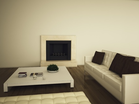 modern interior with 3d rendering