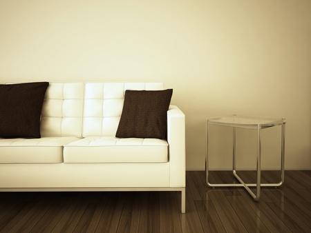 Modern comfortable interior, 3d image.