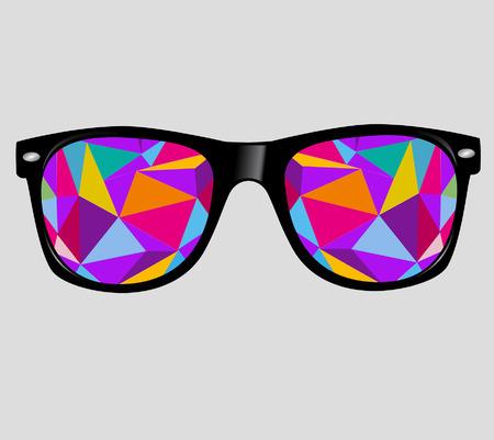 추상적 인 기하학적 인 삼각형 벡터 배경 선글라스