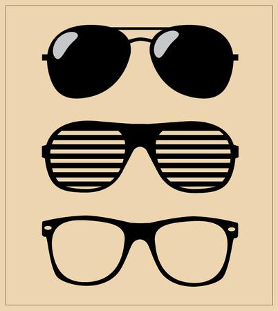 set van een zonnebril vector illustratie achtergrond