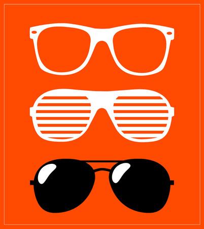 aviators: set of sunglasses  vector illustration background Illustration