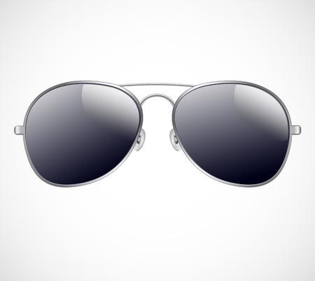 Aviator sunglasses vector illustration background Vector