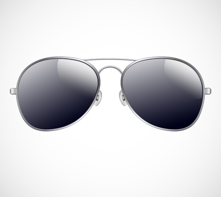 sunglasses reflection: Aviator sunglasses vector illustration background