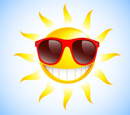 Drôle avec des lunettes de soleil Vector illustration de fond