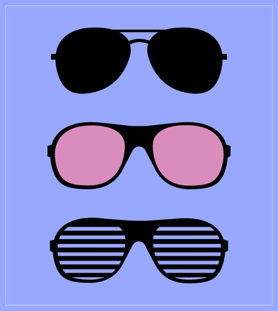 ray ban: set of sunglasses illustration  Illustration