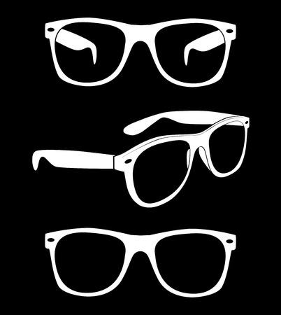 ray ban: Set of glasses illustration