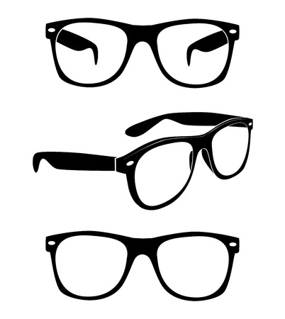 ray ban: Set of glasses illustration