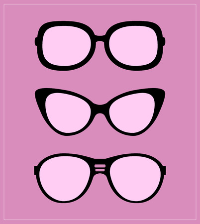 ray ban: Set of sunglasses illustration