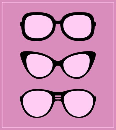 Set of sunglasses illustration