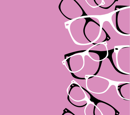 패턴 복고풍 유행을 좇는 사람은 추상적 인 선글라스 일러스트