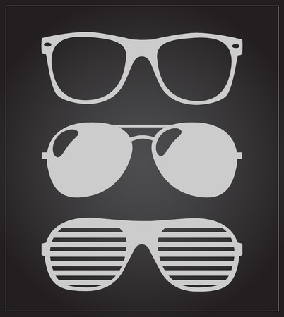 aviators: set of sunglasses illustration background