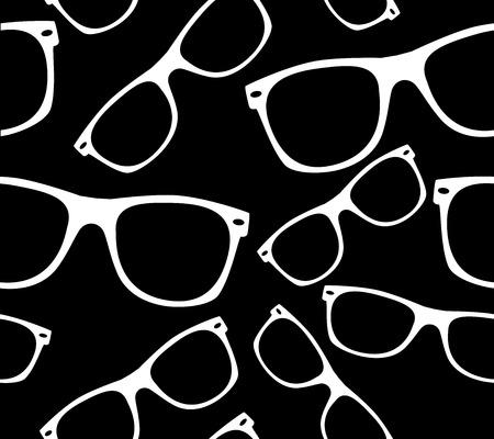 ray ban: glasses seamless pattern