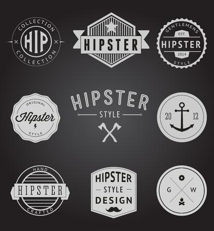 antique: Set of Vintage styled design Hipster icons
