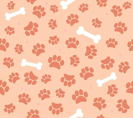 animal foot: background animal footprints seamless pattern