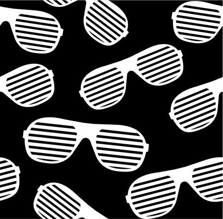 fashion glasses: shutter shades sunglasses seamless pattern background