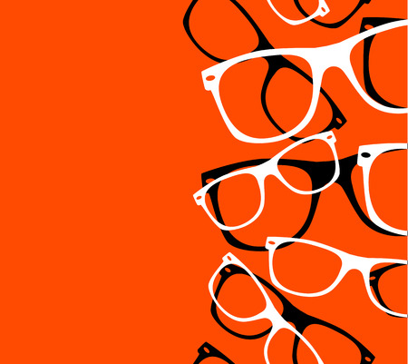 fashionable sunglasses: pattern retro hipster sunglasses abstract background