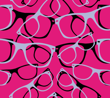 glasses seamless pattern retro hipster sunglasses  abstract background
