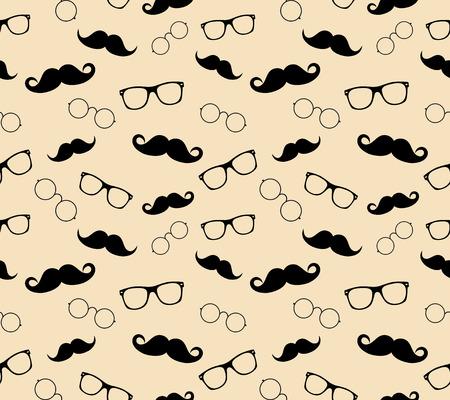 wayfarer: Hipster style pattern, glasses and mustaches  illustration background pattern